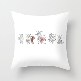 Captain A-Fight! Throw Pillow