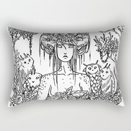 Critter Nymph Rectangular Pillow