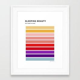 The colors of - Sleeping beauty Framed Art Print