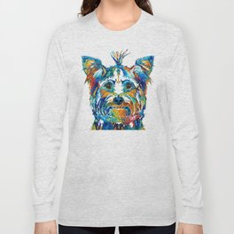 Colorful Yorkie Dog Art - Yorkshire Terrier - By Sharon Cummings Long Sleeve T-shirt