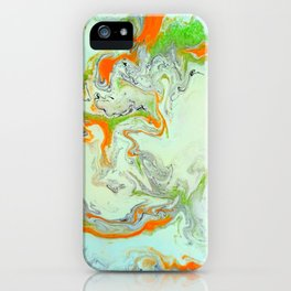 Bright Orange Marble Print - Colorful Graphic Art iPhone Case