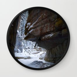 Maligne Canyon Icewalk Wall Clock