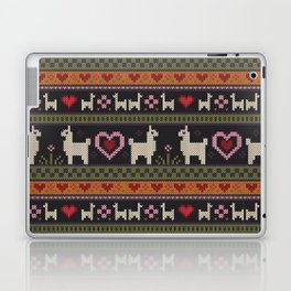 Llama Love Knit Laptop & iPad Skin
