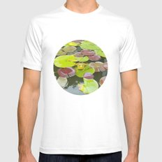 Resting on the pad MEDIUM White Mens Fitted Tee