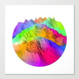 Holopunk Mountains Canvas Print