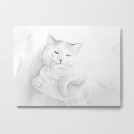 Playful Cat I Metal Print