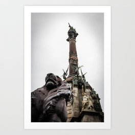 Columbus Monument, Barcelona Art Print