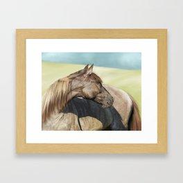 Horse Painting Framed Art Print