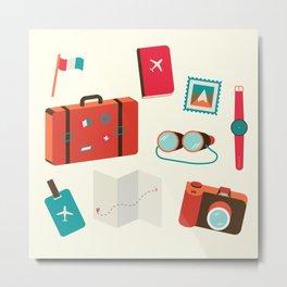 Travel Lover Metal Print