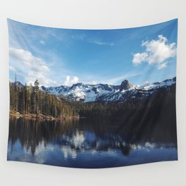Snowy Peak and Lake Wall Tapestry