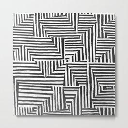 Optical Illusion Sketch Metal Print