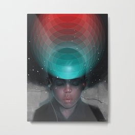VR Kid Metal Print