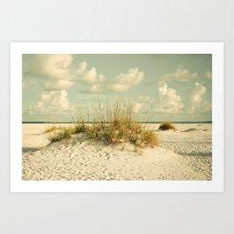 Tropical Beach Vibes Art Print
