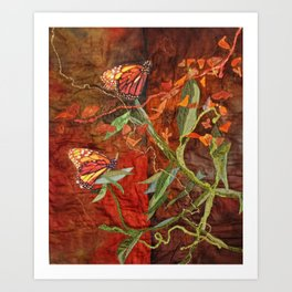 Monarch Butterfly Reserve Art Print