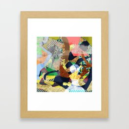 Abstract composition with chess pieces Framed Art Print