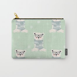Polar bear pattern 003 Carry-All Pouch