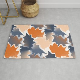 Funky shapes Falling Leaves Abstract  Rug