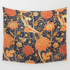 William Morris Cray Floral Art Nouveau Pattern Wall Tapestry
