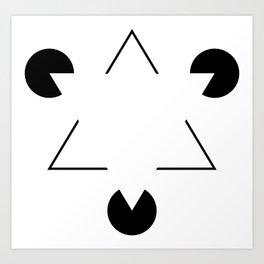 Kanizsa triangle Art Print