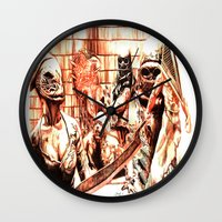 silent hill Wall Clocks featuring Silent Hill by Joseph Silver