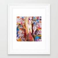 nicki Framed Art Prints featuring nicki baby by Beauti Asylum