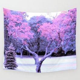 Pink & Purple Tree Landscape Wall Tapestry