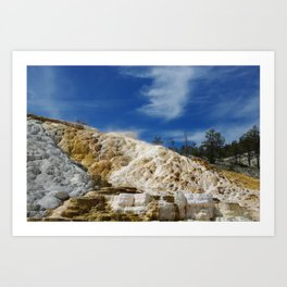 Mammoth Terraces, Yellowstone Art Print