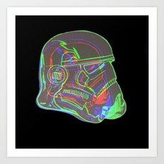 Neon Trooper Art Print