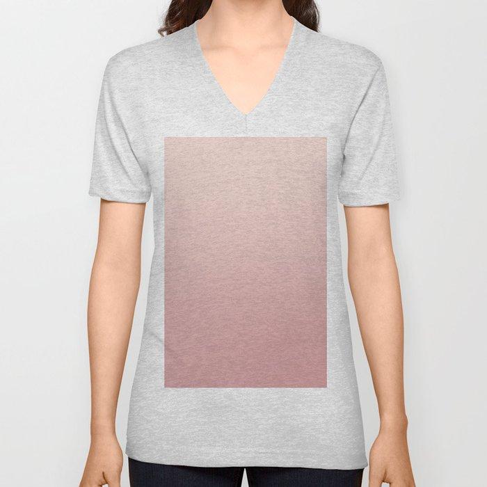FREAK HEAT - Minimal Plain Soft Mood Color Blend Prints Unisex V-Neck