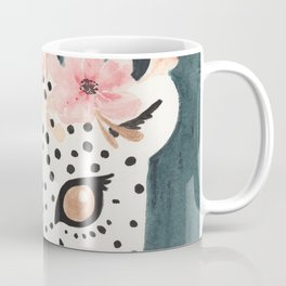 Flower Crown Leopard Coffee Mug