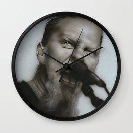 'Blackened' Wall Clock