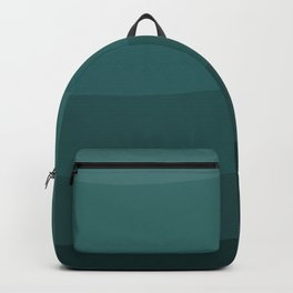 Six shades of turquoise. Backpack