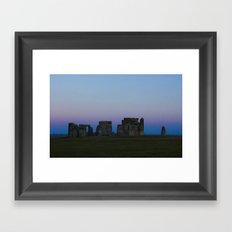 Stonehenge In Pink Framed Art Print