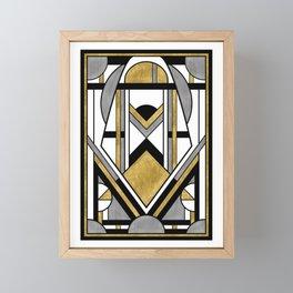 Up and Away - Art Deco Spaceman Framed Mini Art Print