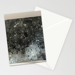 Barcelona's German Pavilion Alps Green Marble Wall by Mies van der Rohe Stationery Cards