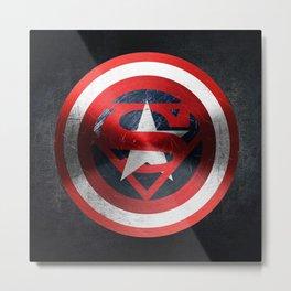 Capitan Vs Superman Metal Print