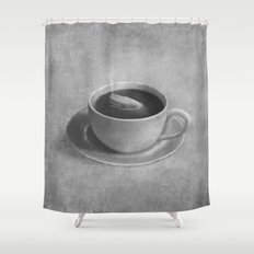 Whale in a tea cup  Shower Curtain