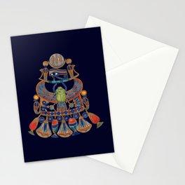 TUTANKHAMUN PECTORAL-King Tut Egypt (navy blue) Stationery Cards