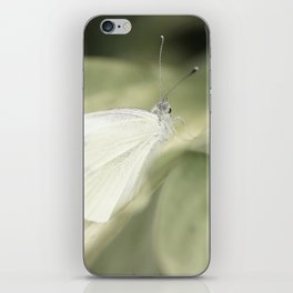 white butterfly iPhone Skin