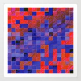 little colored squares -4- Art Print