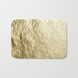 Crinkled Gold Bath Mat