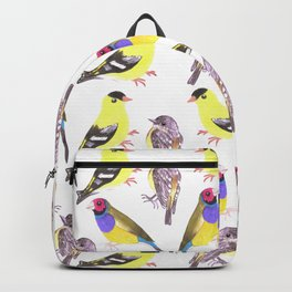 Birds in tints and shades of yellow Backpack