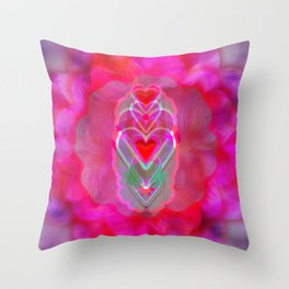 The Hearts Mantra Throw Pillow