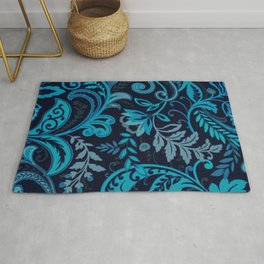 Classic Paisley in Navy and Blue Rug