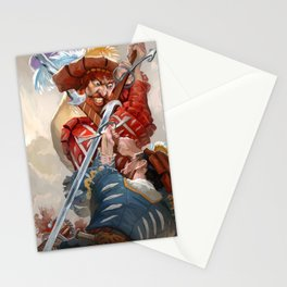 Knights fight Stationery Cards