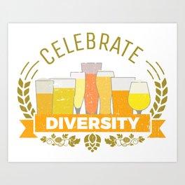 Celebrate Diversity - Beer Flavors Taste Art Print