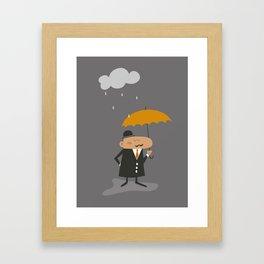 Happy Rainy Day Framed Art Print