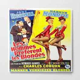 Gentlemen Prefer Blondes (French Version) Metal Print