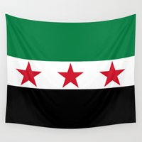 "islam Wall Tapestries featuring Syrian ""independence flag""  High quality authentic color and scale version by Bruce Stanfield"