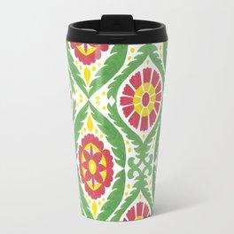 Hand painted red green yellow watercolor motif Travel Mug